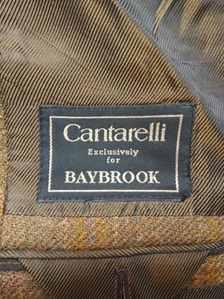 Cantarelli(カンタレリ) ジャケット メンズ ブラウン×マルチ チェック柄