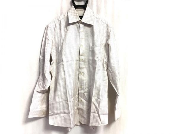 HUGOBOSS(ヒューゴボス) 長袖シャツ サイズ39 メンズ美品  白×パープル