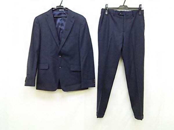 パーソンズ シングルスーツ メンズ ネイビー イニシャル刺繍/肩パッド/FOR MEN