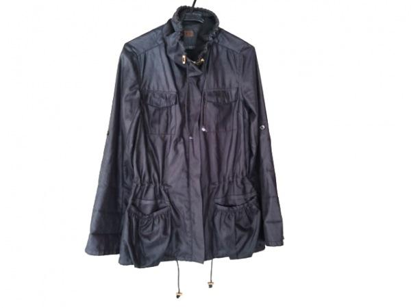 PROFILE(プロフィール) コート サイズ38 M レディース 黒 ジップアップ/春・秋物