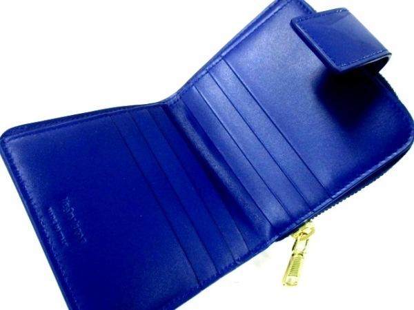 イヴサンローランリヴゴーシュ 2つ折り財布美品  - 352906 ブルー 3