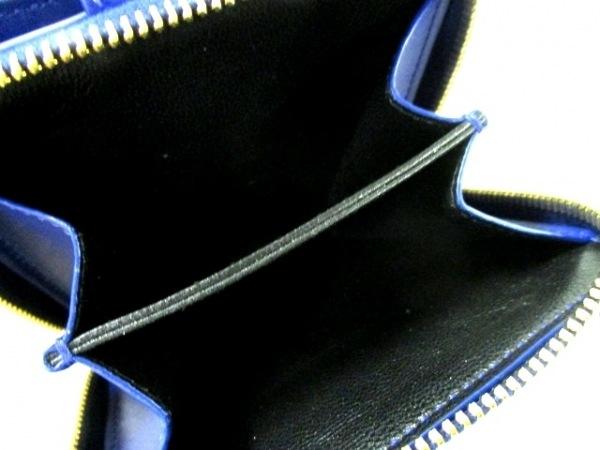 イヴサンローランリヴゴーシュ 2つ折り財布美品  - 352906 ブルー 4