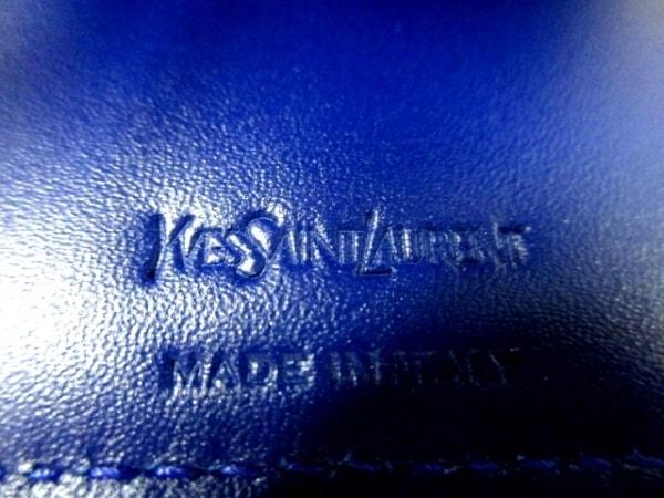 イヴサンローランリヴゴーシュ 2つ折り財布美品  - 352906 ブルー 5