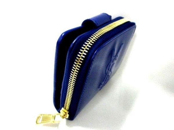 イヴサンローランリヴゴーシュ 2つ折り財布美品  - 352906 ブルー 7