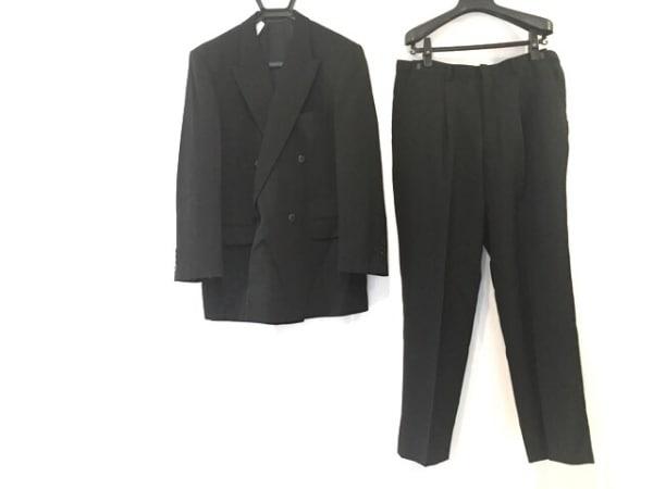 SAVILE ROW(サヴィルロウ) ダブルスーツ サイズ98-88-175 メンズ 黒 ネーム刺繍
