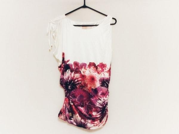 Rady(レディ) カットソー サイズF レディース美品  白×ピンク×マルチ 花柄