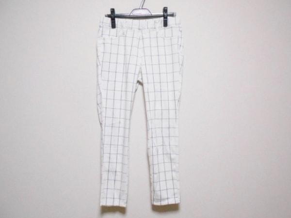 VALMAN(バルマン) パンツ サイズLL レディース 白×黒 チェック柄