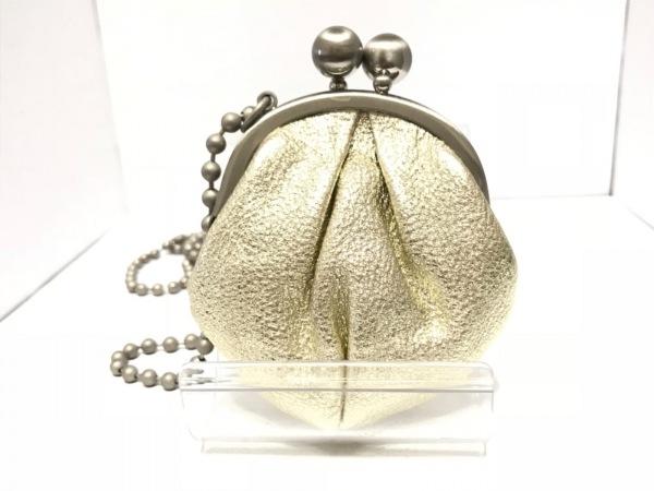 kawa-kawa(カワカワ) コインケース ゴールド がま口 レザー