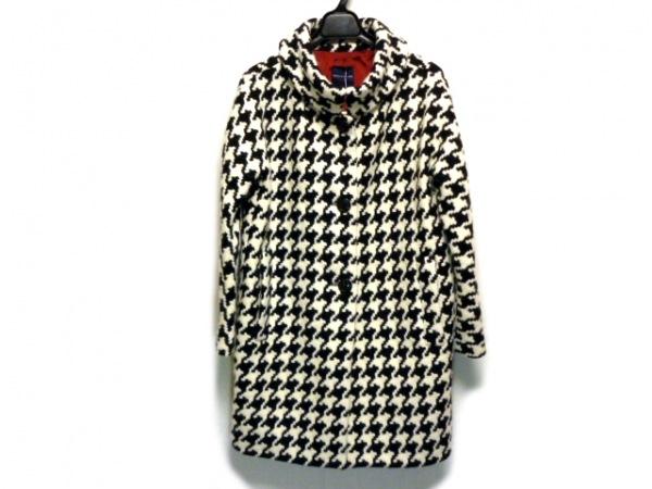TOMORROWLAND(トゥモローランド) コート サイズ38 M レディース 白×黒 千鳥格子/冬物