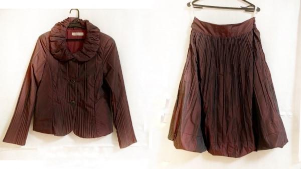 HIROKO KOSHINO(ヒロココシノ) スカートスーツ サイズ40 M レディース ボルドー