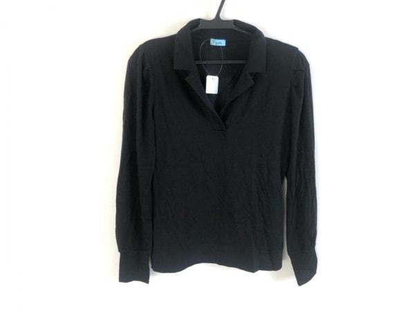 フォクシーエフガール 半袖カットソー サイズS レディース美品  黒 肩パッド