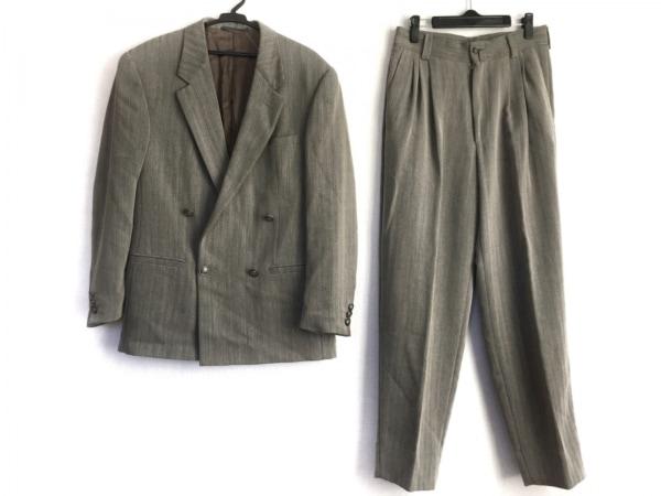 istante(イスタンテ) ダブルスーツ メンズ美品  ライトグレー 肩パッド