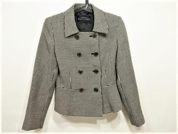 BALLSEY(ボールジー) ジャケット レディース美品  ベージュ×黒 チェック柄/肩パッド