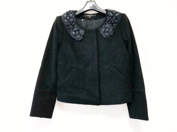 Flammeum(フラミューム) ジャケット サイズ38 M レディース 黒 ビジュー/冬物