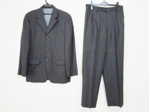 JUN MEN(ジュンメン) シングルスーツ サイズL メンズ グレー ストライプ