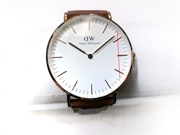 ダニエルウェリントン 腕時計 Classic B36R11 ボーイズ 革ベルト 白