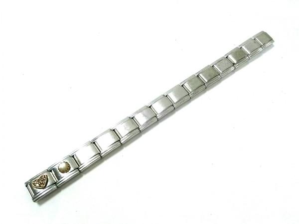ナラカミーチェメッサジオ ブレスレット美品  金属素材 シルバー ハート