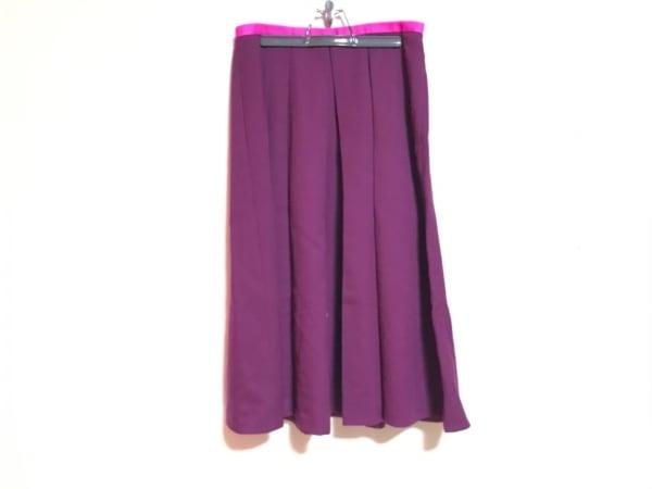 DRAWER.(ドロウアー) スカート レディース美品  ボルドー×ピンク