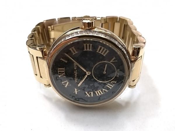 マイケルコース 腕時計美品  MK-5989 ボーイズ ラインストーン 黒 2