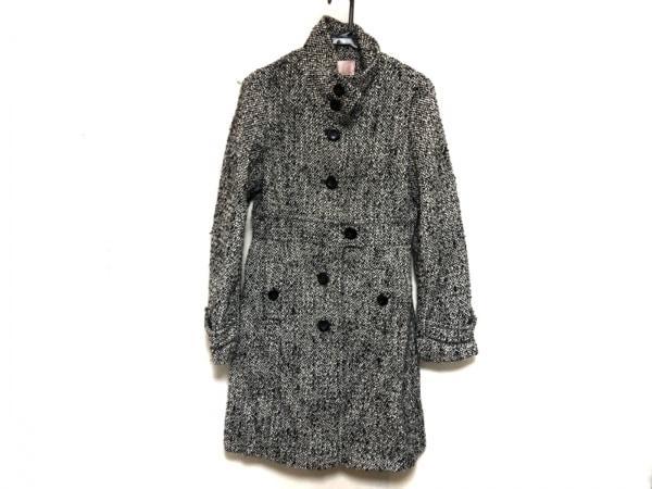 PeachJohn(ピーチジョン) コート レディース 黒×白 冬物