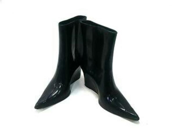 melissa(メリッサ) ブーツ レディース 黒 ウェッジソール ラバー