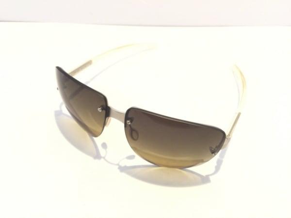 PRADA(プラダ) サングラス SPR73A 黒×シルバー×クリア プラスチック×金属素材