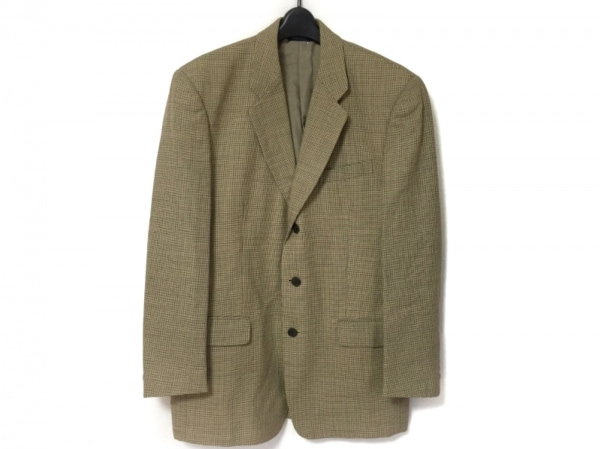 ダニエルエシュテル ジャケット サイズ50 メンズ美品  ベージュ×ダークブラウン×黒