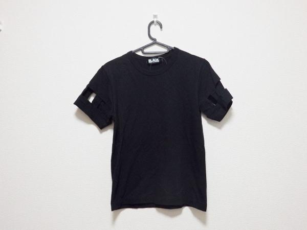ブラックコムデギャルソン 半袖Tシャツ サイズXS レディース 黒