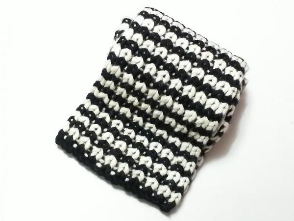 karakoram accessories(カラコラムアクセサリーズ) マフラー 白×黒 ウール