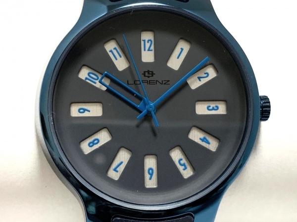 LORENZ(ロレンツ) 腕時計美品  - レディース ラバーベルト ダークネイビー