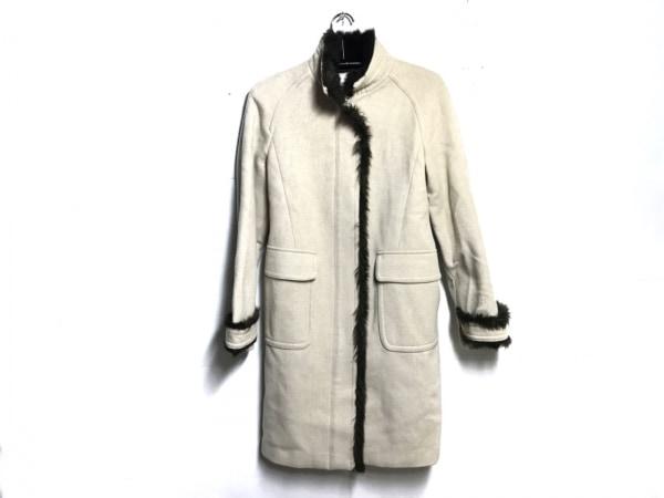 J.FERRY(ジェイフェリー) コート サイズ40 M レディース アイボリー×ブラウン 冬物