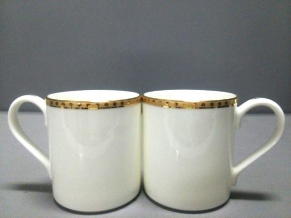 ティファニー マグカップ新品同様  Gold Band 白×ゴールド 2個セット 陶器