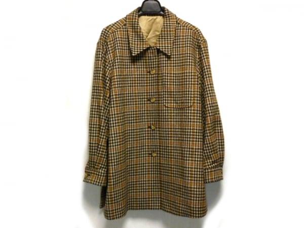 DAKS(ダックス) コート サイズ13ABR メンズ ライトブラウン×黒×ブラウン 冬物