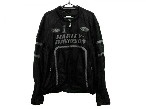 ハーレーダビッドソン ライダースジャケット サイズL メンズ美品  黒×グレー