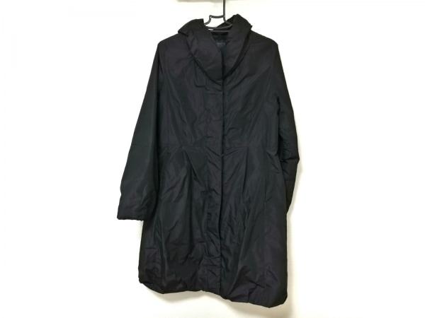 CK39(カルバンクライン) ダウンコート レディース美品  黒 光沢感あり/冬物