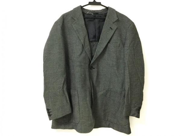 LOISIR(ロワズィール) ジャケット サイズL メンズ ダークグレー×アイボリー 春・秋物