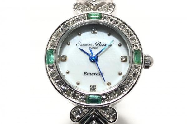 クリスチャンボヌール 腕時計 CB-11453 レディース シェルホワイト