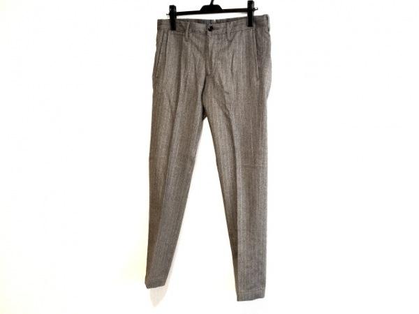 lideal(リディアル) パンツ サイズ31 メンズ グレー×白 ストライプ