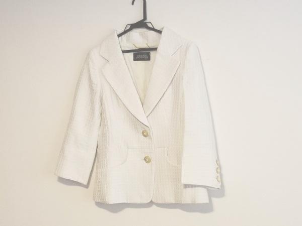 マダムジョコンダ ジャケット サイズ11 M レディース アイボリー 肩パッド/刺繍