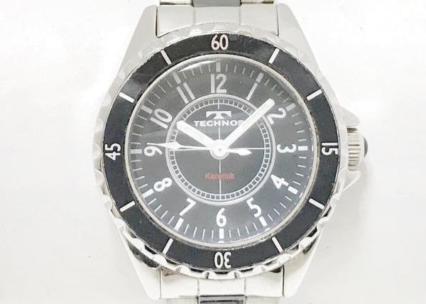 TECHNOS(テクノス) 腕時計 T3765 レディース 黒