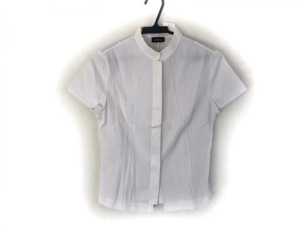 AKRIS(アクリス) 半袖シャツブラウス レディース美品  白 プリーツ