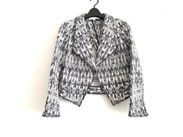 デレクラム ジャケット サイズ0 XS レディース美品  アイボリー×黒×マルチ