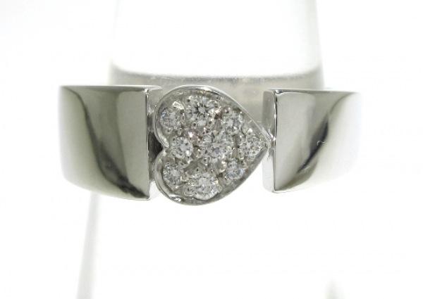 ピアジェ リング美品  ジュリエットリング K18WG×ダイヤモンド 9Pダイヤ/ハート