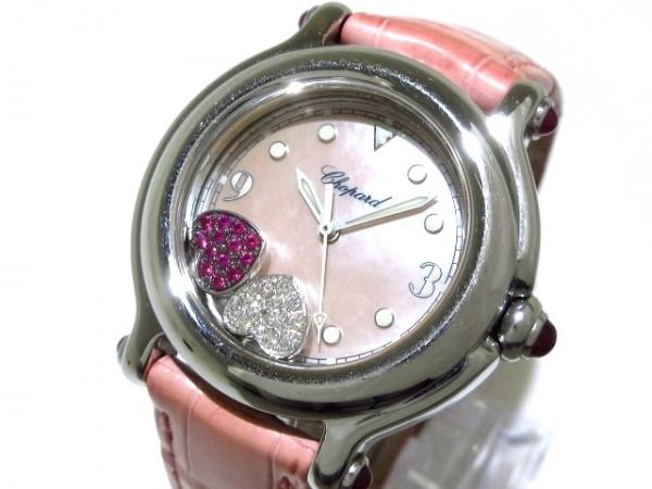 Chopard(ショパール) 腕時計 ハッピースポーツ 27/8238-21 レディース シェルピンク