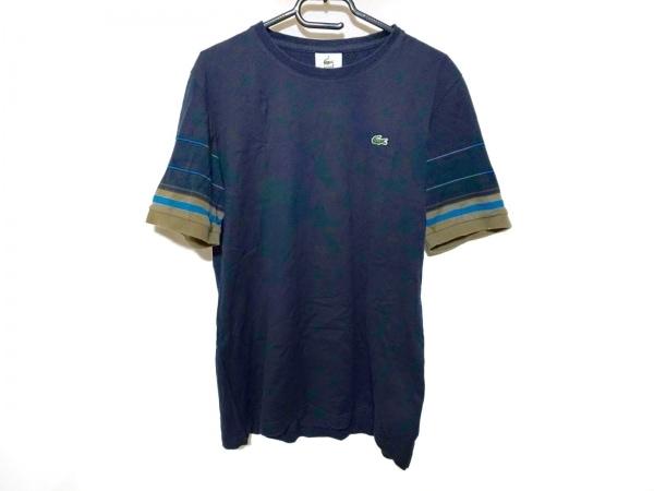 Lacoste(ラコステ) 半袖Tシャツ サイズ4 XL メンズ ネイビー×カーキ×ブルー