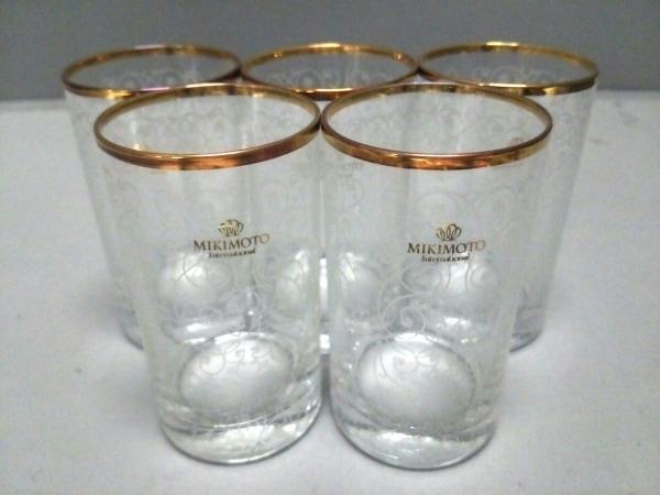 mikimoto(ミキモト) 食器新品同様  クリア×ゴールド グラス×5 ガラス