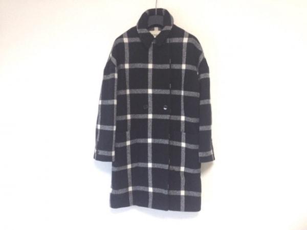 LENER(レネール) コート サイズ36 S レディース 黒×グレー×白 冬物/チェック柄