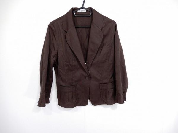 ヒロコビス ジャケット サイズ11 M レディース美品  ダークブラウン esseNtieL