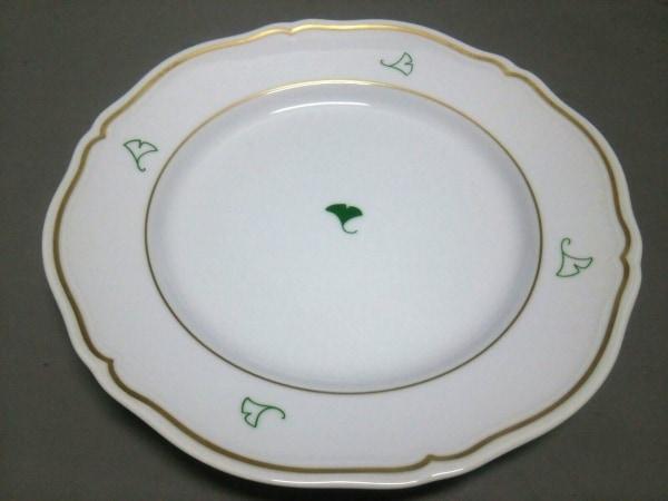 Richard Ginori(リチャードジノリ) プレート新品同様  白×ゴールド×グリーン 陶器