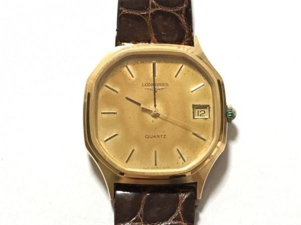 LONGINES(ロンジン) 腕時計 - レディース 革ベルト/型押し加工 ゴールド